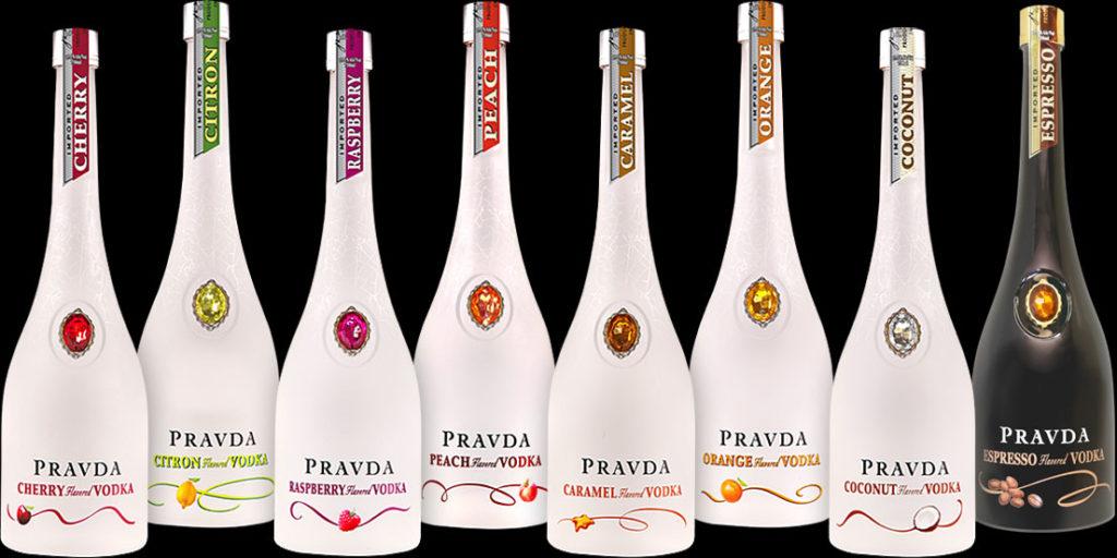 カラフルな宝石が埋め込まれたプラヴダ