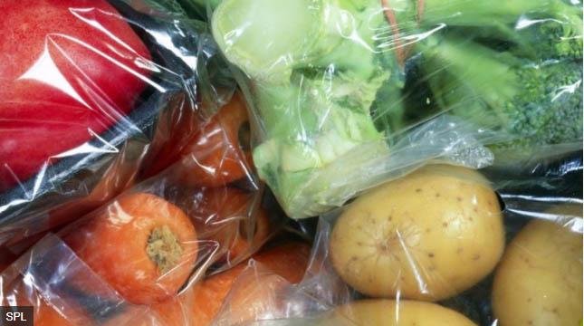 野菜のプラスチック包装