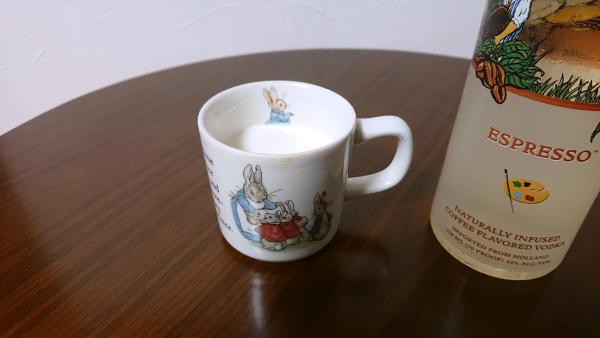 ヴァンゴーウォッカエスプレッソのミルク割