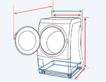 左開きのドラム式洗濯機