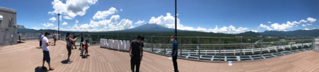 FUJIYAMAタワーのパノラマ写真